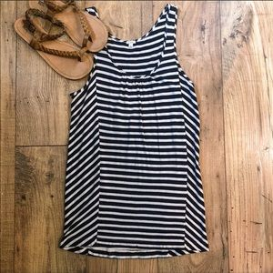 J. Crew navy white striped tank top size XS